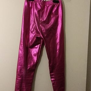 Bottoms - Girl's Shiny Stretch Leggings Size: Small